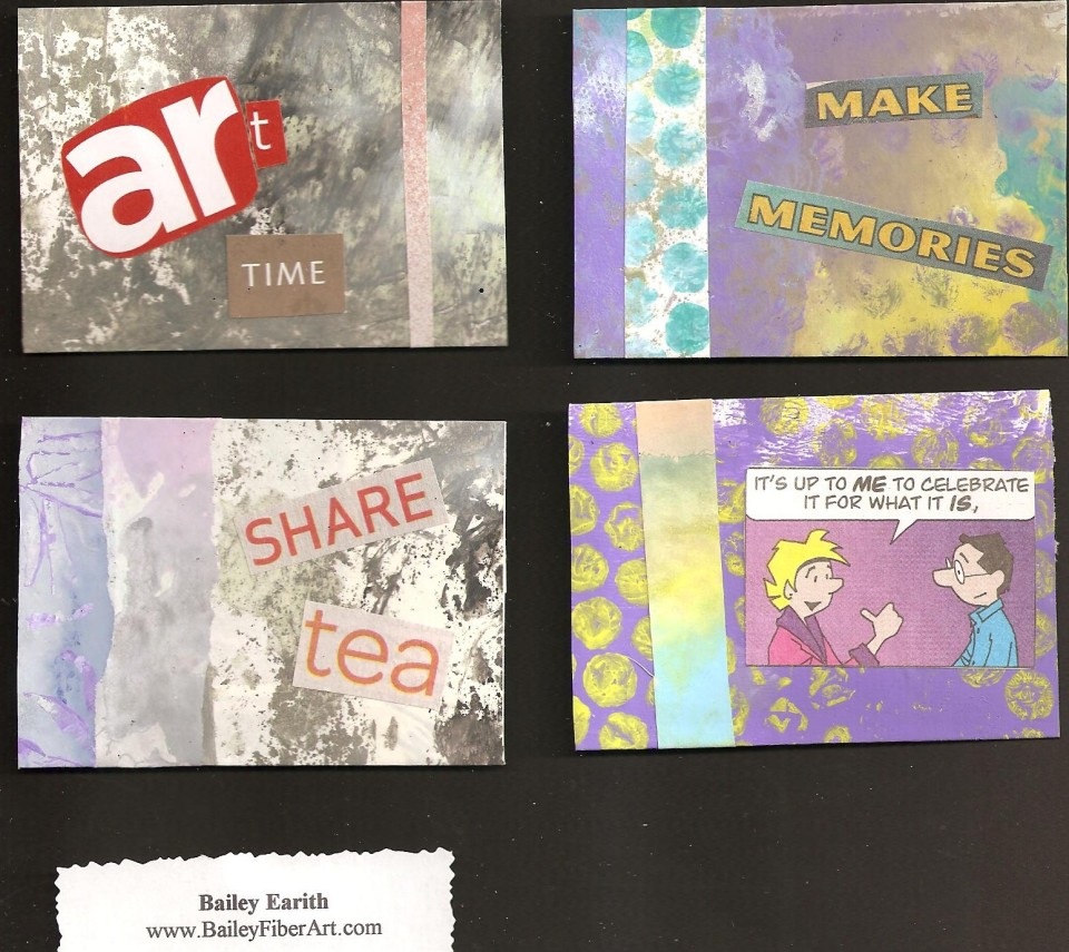 Bailey Earith: here are 4 of Bailey's 48 cards. A generous gift of pocket change.