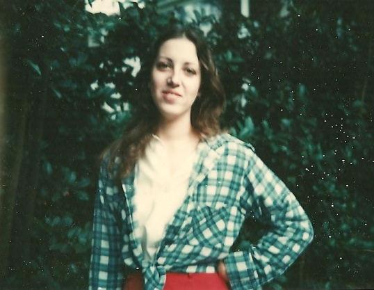 Flannel shirted Me in 1975 at the farm.