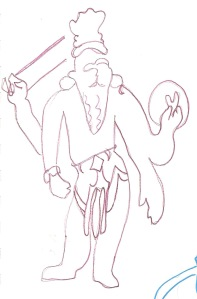Gesture drawing copyright 2013 ECR