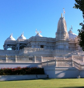 Mandir on a perfect fall day