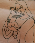 Mother and Child Sketch