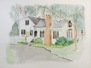 Watercolor of Home copyright ECR 2014