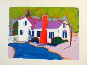 Acrylic Painting of Home copyright ECR 2014