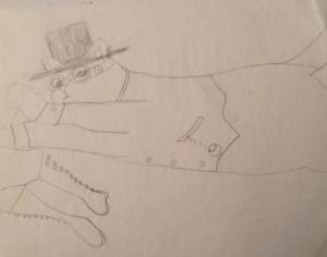 Steampunk Alli sketch.