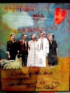 Family on Birthday Card
