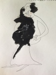 "Ink Blot Babe, $35. 8.5"" x 11"" ink on paper"