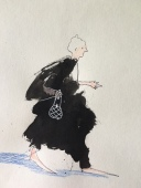"""Lady Blot $35. 8.5"""" x 11"""", ink and colored pencil on paper"""