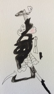 Ink Blot Lady $35.00