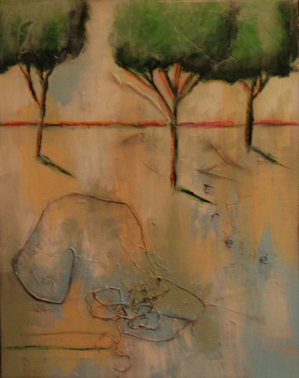 mixed media, trees, forest, earth day, Beth Rommel, nature, tree hugger